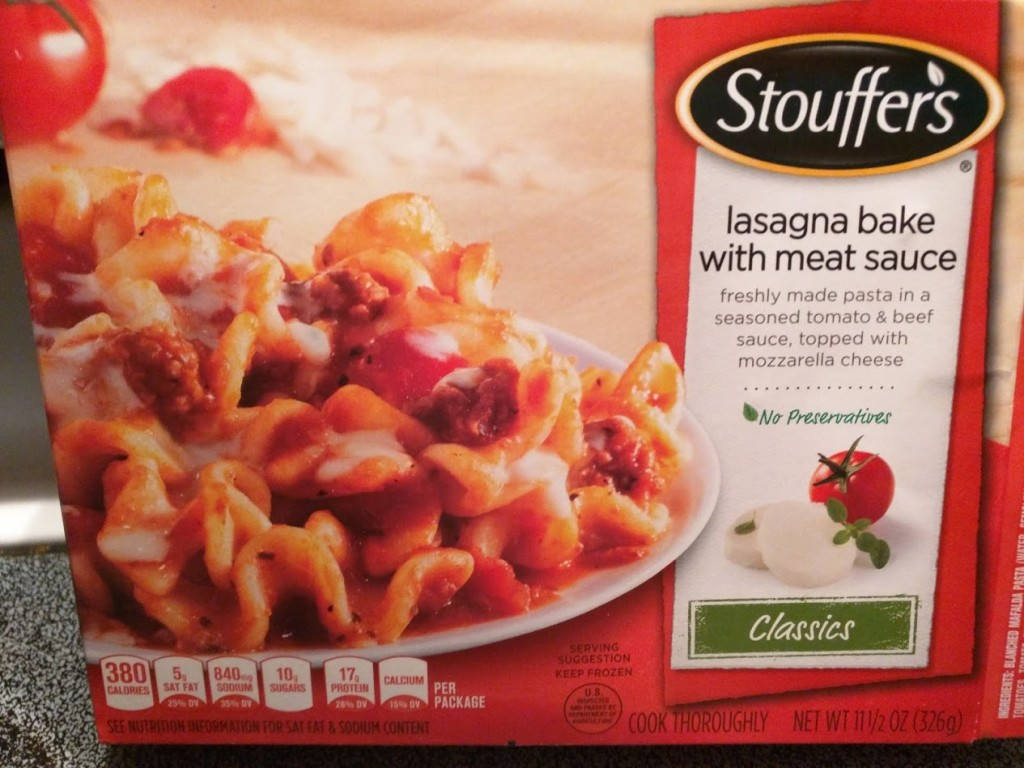 Stouffer's Lasagna Bake with Meat Sauce