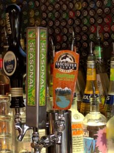 Craft beer taps at Scores on Davie