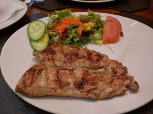 Grilled pork was delicious