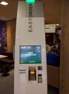 Order Kiosk at McDonalds