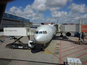 B767 at the gate in AMS