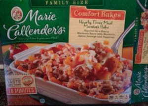 Marie Callender's Hearty Three Meat Marinara Bake