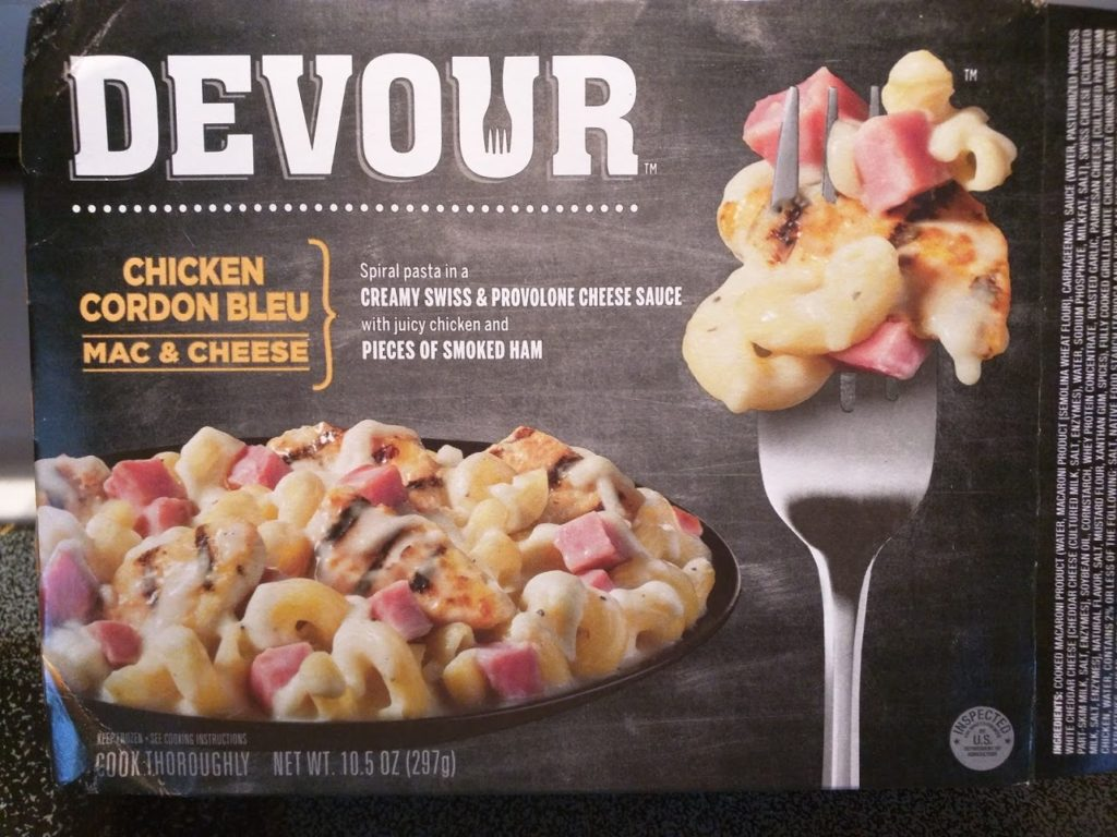 Devour Chicken Cordon Bleu Mac and Cheese